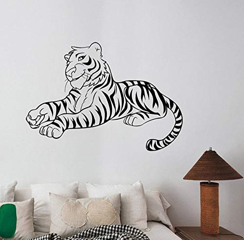 (wsydd Tiger Wall Sticker Removable Vinyl Decal Safari Animal Art Decorations for Home Living Kids Room Wall Stickers 58 x 83 cm)