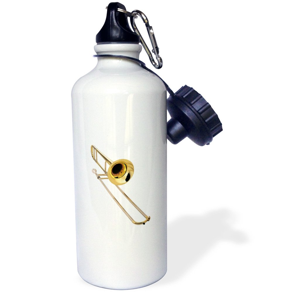 White 21 oz 3dRose wb/_4186/_1 Trombone Sports Water Bottle
