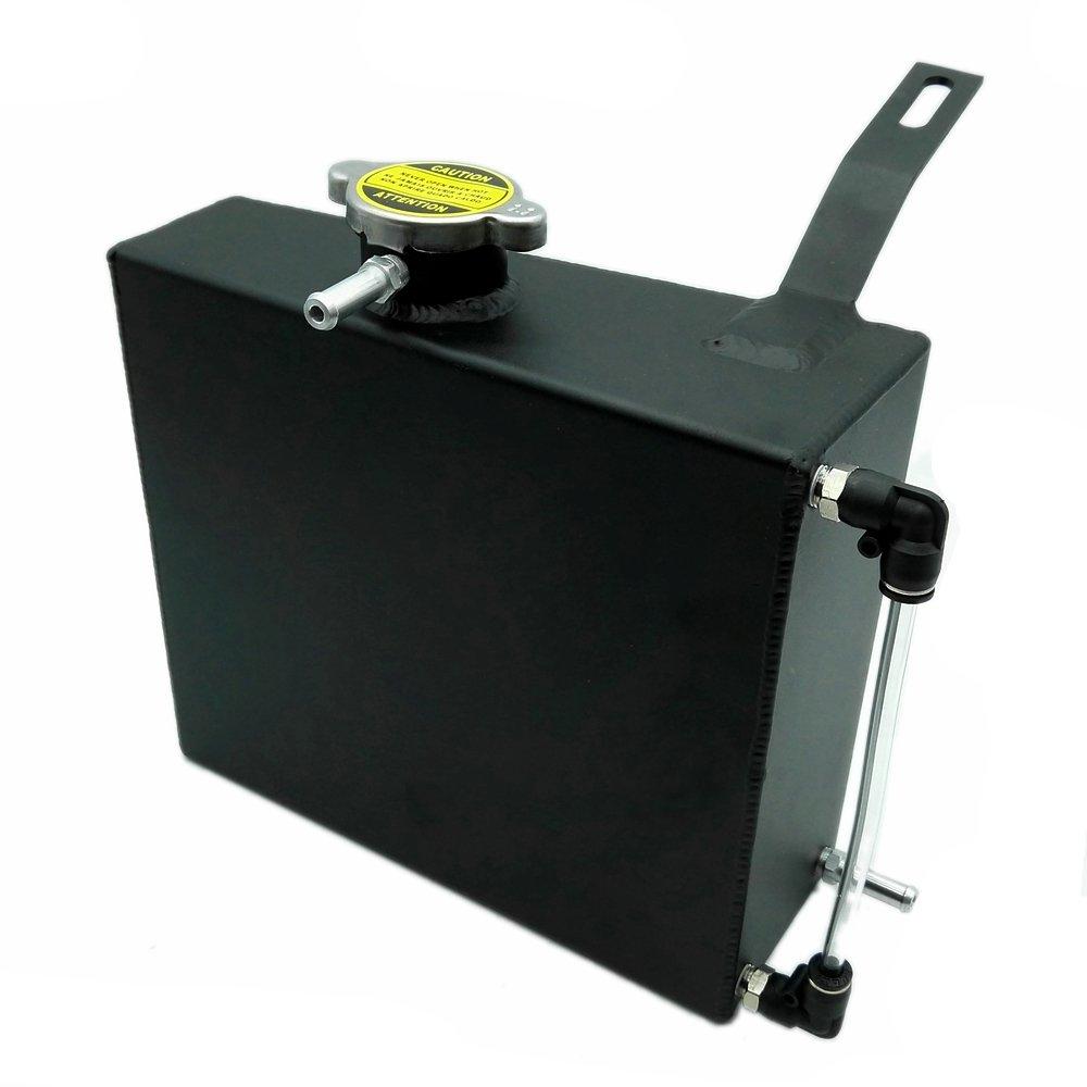 heinmo 2L con texto en aluminio depó sito de refrigerante del radiador rebosadero para Supra Mk III IV 7 mgte 2jzgt-black Heinmo Plus