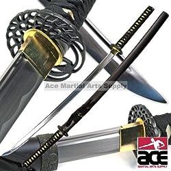 "Traditional 40"" Handmade Japanese Samurai Sharp Katana Sword with Scabbard - By Musha by Musha"