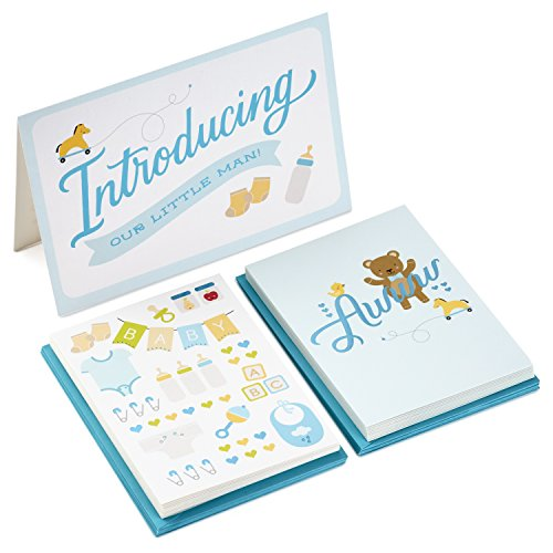 Hallmark Baby Shower Cards Assortment, Blue (20 Blank Note Cards with Envelopes)
