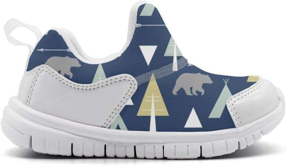 ONEYUAN Children Bear Arrow Teepee Kid Casual Lightweight Sport Shoes Sneakers Walking Athletic Shoes