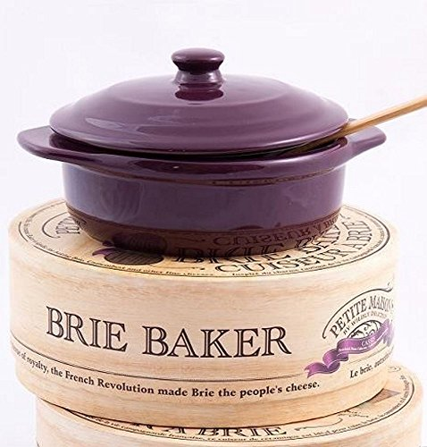 Wildly Delicious Petite Maison Brie Cheese Baker in Cassis Purple