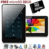 inDigi Phablet-713-2Ga Unlocked 7-Inch GSM Android 4.0 ICS Smart Cell Phone + Tablet PC (2-in-1 Phablet) with Google Play Store + 32GB MicroSD Card