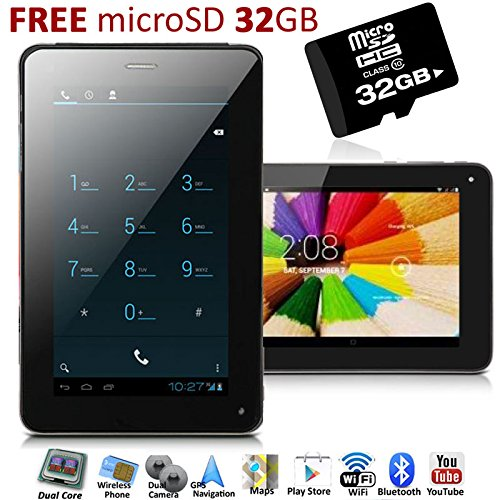 Indigi 713-2ga Unlocked Cell 2-in-1 Phablet 7-inch Gsm Android 4.0 ICS with Micro Sd