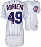 Jake Arrieta Chicago Cubs 2016 MLB World Series Champions Autographed Majestic White World Series Authentic Jersey with 2016 WS Champs Inscription - Fanatics Authentic Certified