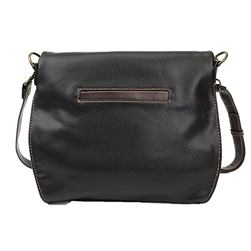 Turtle Charming Shoulder Black and Zipper Bag Crossbody With Handbag Top Black or Flap Chala 4qwZ7UCq