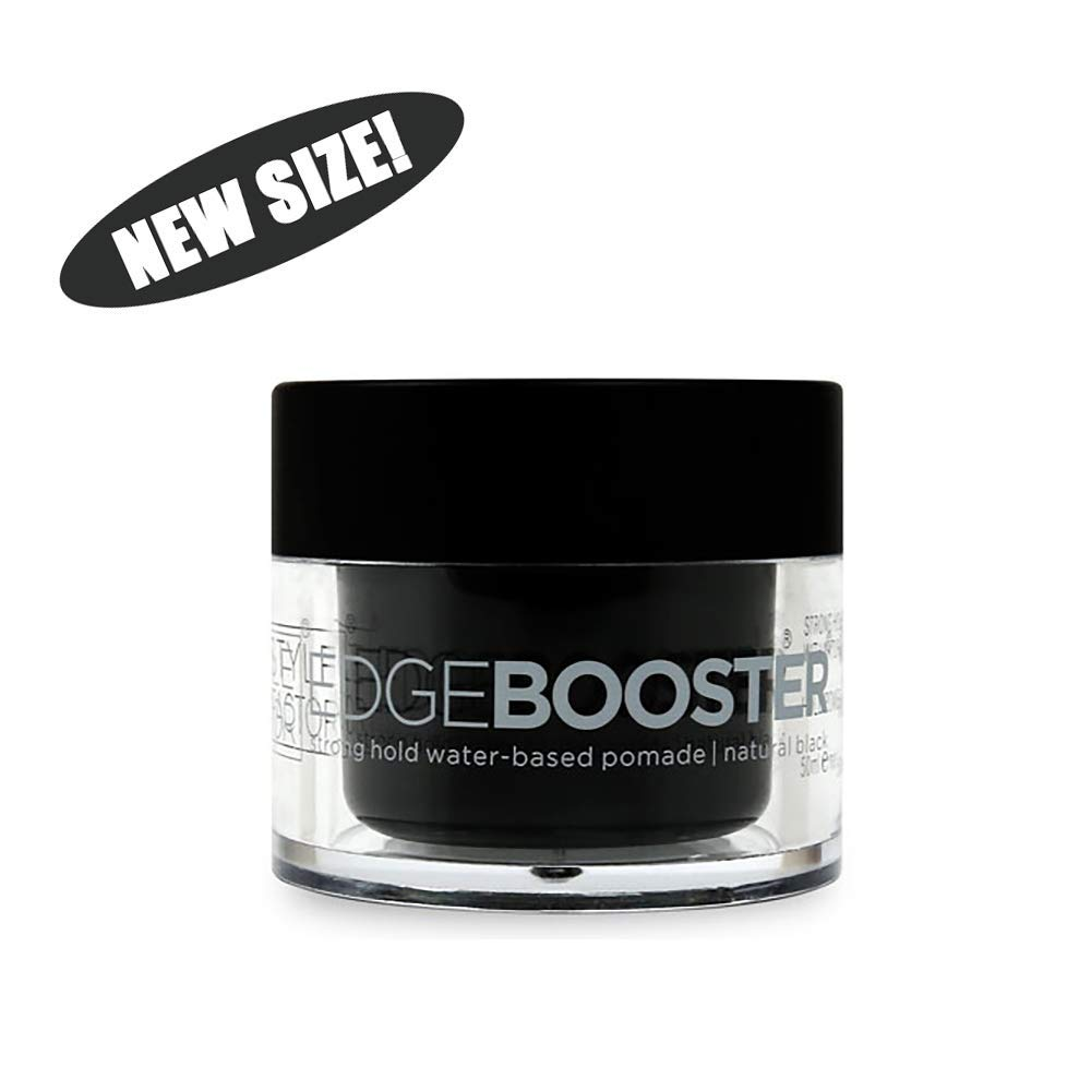 Style Factor Edge Booster Hideout Hair Pomade Strong Hold Color Gel 1.7oz Natural Black (Natural Black)