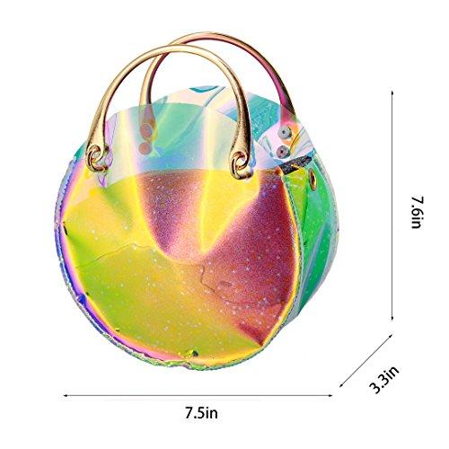 Shoulder Beach Bag Crossbody Holographic Women Elegant Transparent3 Party Liliam Prom qSHtZw8x