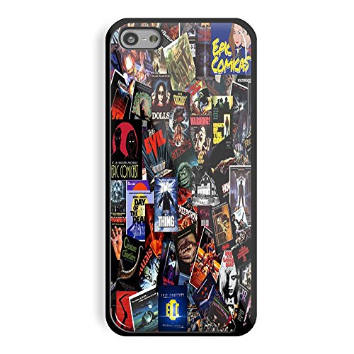 Top Horror Movies collage for iPhone and Samsung Galaxy Case (iPhone 5C black)
