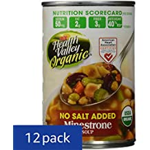 Health Valley Organic No Salt Added Soup, Minestrone, 15 Ounce (Pack of 12)