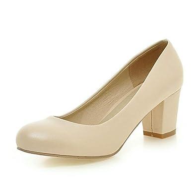 304b2ebd20550 Escarpins Haut Talons Round Toe Chaussures Bureau Travail Chunky Talons  Pompes Dames Femmes