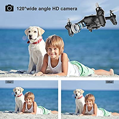 2019 Latest Mini Drones with Camera for Beginners/Adults 720P HD WiFi Real-time Video Feed,2.4GHz 4CH 6-Axis Gyro Quadcopter,Small Drone Easy Fly Fun Gift for Boys Girls(AT-96)