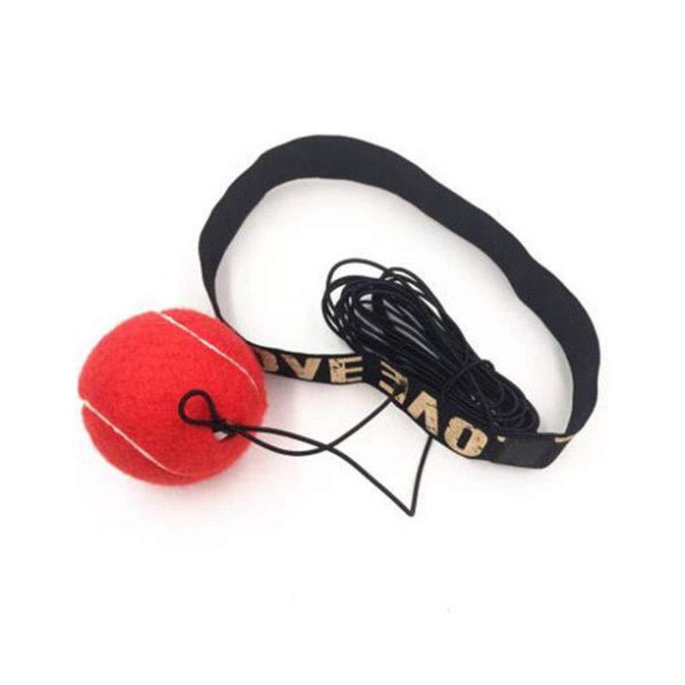 Wildlead de Boxe Punch d'exercice Fight Boule avec Bandeau Fournitures pour Reflect Speed Training Box