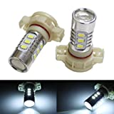 iJDMTOY 360-degree shine 15-SMD-5730 High Power 5202 H16 LED Bulbs For Fog Lights or Daytime Running Lights, Xenon White