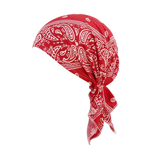 Longra Women Ruffle Cancer Chemo Hat Beanie Scarf Turban Head Wrap Cap Slouchy Beanie Knit Hat Soft Warm Cap for Women