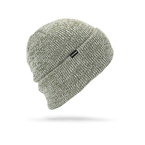 Beanie Volcom Winter (Volcom Men's Heathers Roll Over fit Beanie, Black/Green One Size)