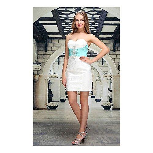 Design Für Cocktail bei Festamo Kleid Weiß Ital Damen ZxTAvgq