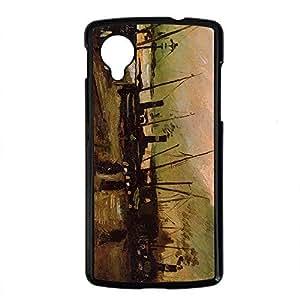Vincent Van Gogh Design PC Black Case for Google Nexus 5 Boat