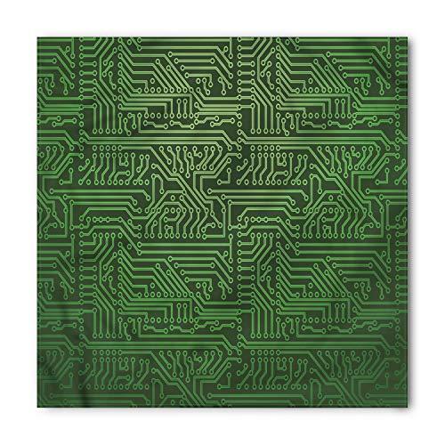 Lunarable Unisex Bandana, Digital Circuit Board Diagram Wire, Fern Green