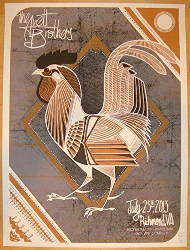 2013 Avett Brothers - Richmond Silkscreen Concert Poster by (Silkscreen Concert Poster)