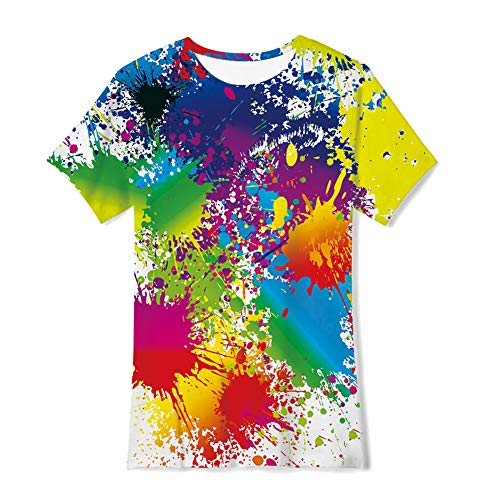 TUONROAD Kids Boys Girls T-Shirts 3D Summer Casual Tops 6-14 Years