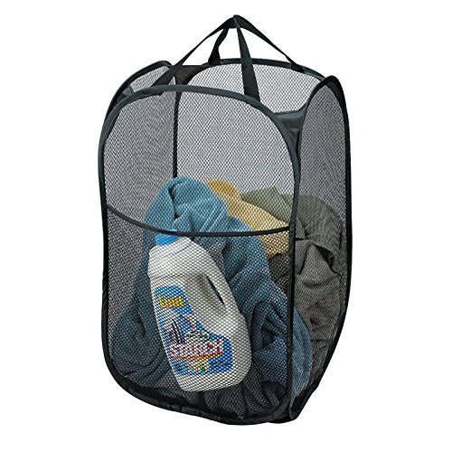 Mesh Fabric Foldable Pop Up Dirty Clothes Washing Laundry