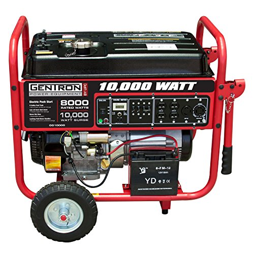 Gentron GG10020C, 10000W Watt Generator, Gas Powered Portable Generator with Electric Push Start for Home Use Power Backup, RV Standby, Hurricane Damage Power Restoration, C.A.R.B Compliant