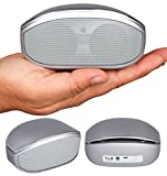 Bluetooth Speaker, Alpatronix AX400 Portable Mini Wireless Stereo Speaker with 6W Loud Volume, Subwoofer, Built-in Mic, AUX, Volume/Playback Controls for Smartphones, Tablets, iPods & PC - Gray