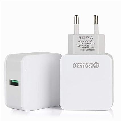 Mumuj Cargador USB QC 3,0 3A Cargador rápido con tecnología ...