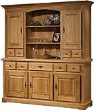 Solid Oak Welsh Dresser Cabinet, Waxed 5-Door 5-Drawer