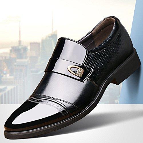 official photos b5f12 f185b Zapatos Cuero Ledlfie Hombre Hechos Black De Mano Sueltos A Vestir RqwtdwnxF
