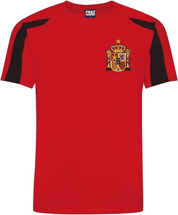 Print Me A Shirt Kit del Equipo de España Personalizable con Camiseta de Futbol, Pantalones Corto, Calcetines e Bolsa.: Amazon.es: Deportes y aire libre