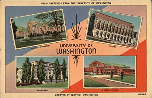 Greetings from the University of Washington Seattle Original Vintage Postcard from CardCow Vintage Postcards