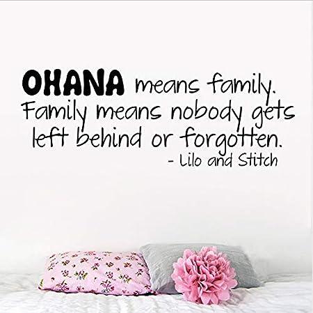 HLLCY Ohana Significa Familia Etiqueta de la Pared Cotizaciones ...