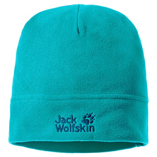 Jack Wolfskin Real Stuff Lightweight Fleece Beanie Cap, Aquamarine, One Size(215/8