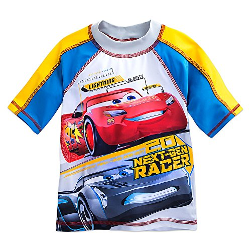 Cars 3 Disney Lightning McQueen & Jackson Storm Rash Guard for Boys