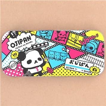 Linda caja de lata estuche lápices metálico oso panda Ojipan ...
