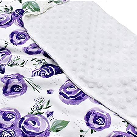 puseky Baby Blanket Double Layer Soft Fabric Receiving Blanket Swaddling Wrap for Girls Boys Shower Gift