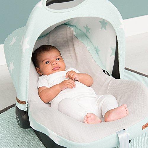 Babys Only 915595 Bezug f/ür Babyschale 0 weiss Stern grau