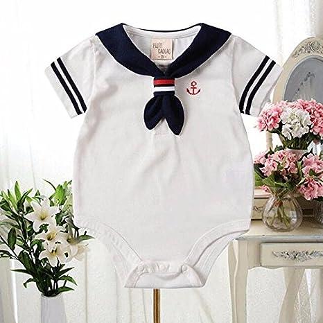 Zooarts recién Nacidos bebé Unisex Girls Boys Sailor Pelele Body Traje de Verano para sesión de
