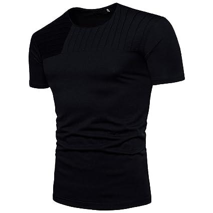 Camiseta Hombres, ❤ Manadlian Moda Hombres Blusa Jersey de manga corta Camisa A rayas