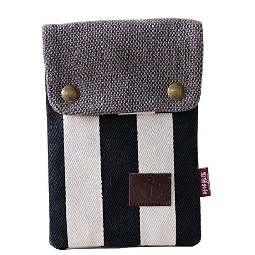 Leben Cross body Cards Casual Purse Shoulder Coins Portable Wallet Cash Lovey Bag Pouch Girls Bag Stripe Women's Mini FqFrwAH