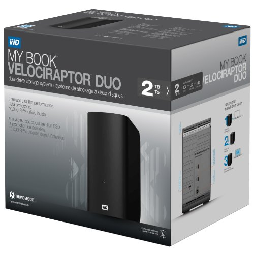 WD My Book VelociRaptor Duo 2TB External Dual Hard Drive Storage RAID Thunderbolt Photo #5