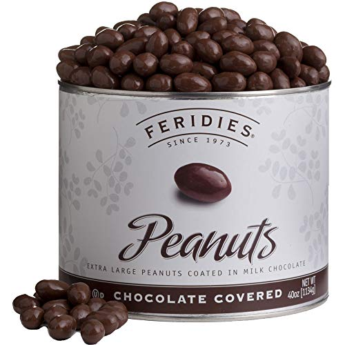 FERIDIES Milk Chocolate Covered Virginia Peanuts - 40oz...