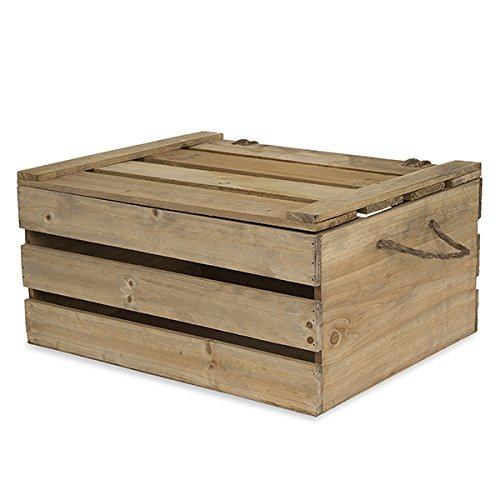 Wood Crates with Lid (Large) - 6
