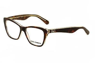 Amazon.com: Dolce & Gabbana DG3167 Eyeglasses-2738 Havana ...