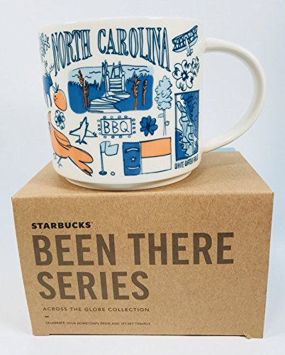 Starbucks North Carolina Coffee Mug Been There Series Across The Globe Collection