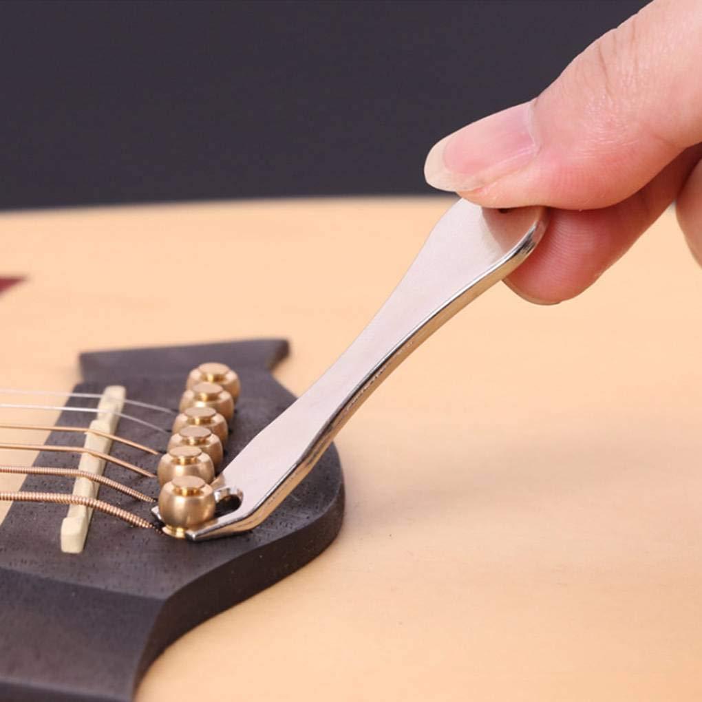 Babysbreath17 Guitarra ac/ústica Ukelele Cuerdas Peg u/ñas Tirador de Puente Pin Remover Herramientas Instrumento de Accesorios