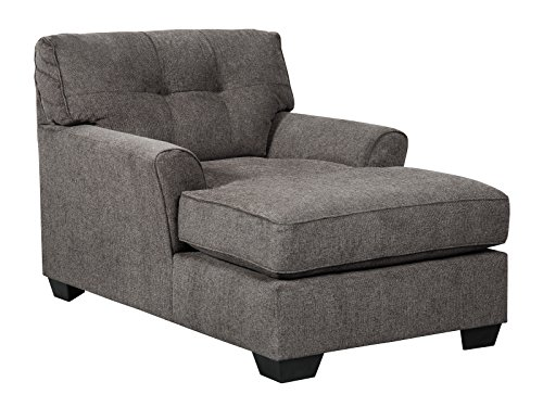 Chaise Loveseat (Benchcraft - Alsen Contemporary Upholstered Living Room Chaise Lounger - Granite)